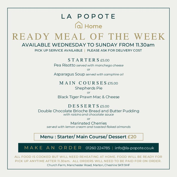 Ready Meal Menu of the Week