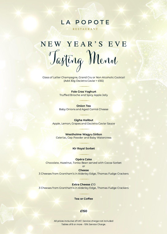 New Year's Eve Tasting Menu 2021 £150